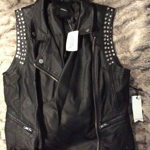Forever 21 faux leather vest. NWT